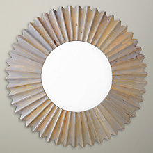 Buy John Lewis Sunburst Wall Mirror, 90 x 90cm, Grey Online at johnlewis.com