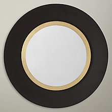 Buy John Lewis Circular Wall Mirror, Black With Gold Rim, 61 x 61cm Online at johnlewis.com