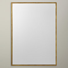 Buy John Lewis Antique Brass Edged Mirror, Rectangular, 107 x 76cm Online at johnlewis.com