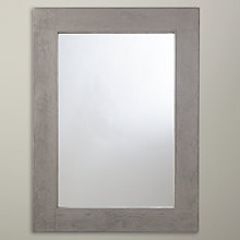 Buy John Lewis Concrete Rectangle Wall Mirror, Grey Online at johnlewis.com