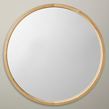 Buy John Lewis Round Oak Scandi Mirror, 70 x 70cm Online at johnlewis.com