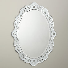 Buy John Lewis Venetian Scalloped Oval Wall Mirror, 89.5 x 63cm Online at johnlewis.com