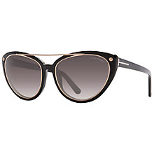 Buy TOM FORD FT0384 Edita Cat's Eye Sunglasses, Black Online at johnlewis.com