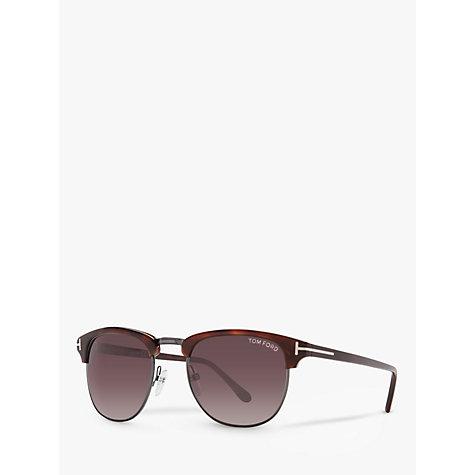 buy tom ford ft0248 henry sunglasses tortoise john lewis. Black Bedroom Furniture Sets. Home Design Ideas