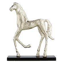 Buy John Lewis Running Horse Sculpture, Large, Silver Finish Online at johnlewis.com