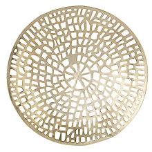 Buy Libra Coral Round Wall Plaque, Gold Online at johnlewis.com