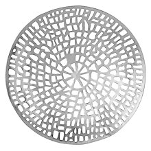 Buy Libra Coral Round Wall Plaque, Silver Online at johnlewis.com
