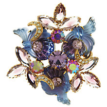 Buy Eclectica Vintage 1950s Lilac Rhinestone Gold Plated Brooch, Lilac Online at johnlewis.com