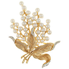 Buy Eclectica Vintage 1950s Trifari Gold Plated Pearl Brooch Online at johnlewis.com
