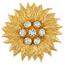 Buy Eclectica Vintage 1980s Christian Dior Gold Plated Flower Rhinestone Brooch Online at johnlewis.com