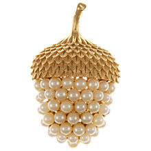 Buy Eclectica Vintage 1950s Trifari Acorn Gold Plated Pearl Brooch, Gold Online at johnlewis.com