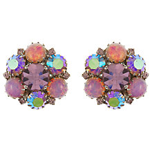 Buy Eclectica Vintage 1950s Warner Rhinestone Clip-On Earrings, Lilac Online at johnlewis.com