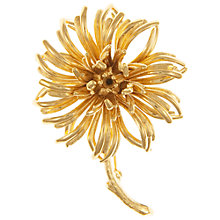 Buy Eclectica Vintage 1960s Christian Dior Gold Plated Flower Brooch Online at johnlewis.com