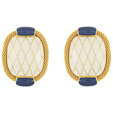Buy Eclectica Vintage 1970s Balenciaga Gold Plated Clip-On Earrings, Navy/Cream Online at johnlewis.com
