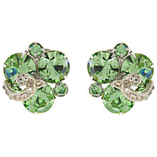 Buy Eclectica Vintage 1950s Weiss Rhinestone Clip-On Earrings, Pale Green Online at johnlewis.com