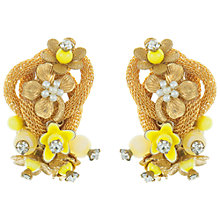 Buy Eclectica Vintage 1960s Flower Knot Earrings, Yellow Online at johnlewis.com