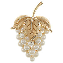Buy Eclectica Vintage 1950s Trifari Strawberry Gold Plated Pearl Brooch Online at johnlewis.com