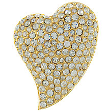 Buy Eclectica Vintage 1980s Sparkly Gold Plated Heart Brooch Online at johnlewis.com