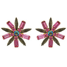 Buy Eclectica Vintage 1950s Judy Lee Flower Gold Plated Clip-On Earrings, Pink/Grey Online at johnlewis.com