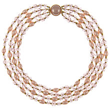 Buy Eclectica Vintage 1950s Gold Plated Pearl Crystal Necklace, Purple Online at johnlewis.com