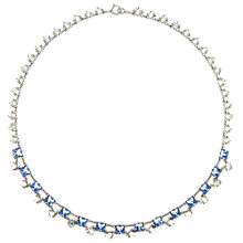Buy Eclectica Vintage 1930s Glass Claw Necklace, Blue Online at johnlewis.com