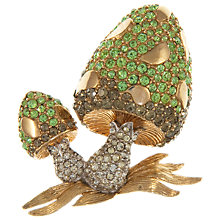 Buy Eclectica Vintage 1950s Boucher Toadstool Brooch, Green Online at johnlewis.com