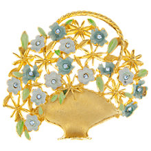Buy Eclectica Vintage 1950s Kramer Basket Of Flowers Brooch, Gold Online at johnlewis.com