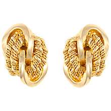 Buy Eclectica Vintage 1974 Grosse Knot Gold Plated Earrings, Gold Online at johnlewis.com