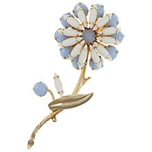 Buy Eclectica Vintage 1960s Large Gold Plated Flower Brooch, Blue Online at johnlewis.com