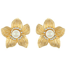 Buy Eclectica Vintage 1960s Christian Dior Gold Plated Clip-On Earrings Online at johnlewis.com
