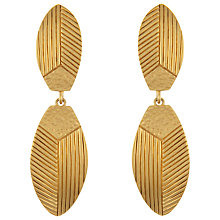 Buy Eclectica Vintage 70s Nina Ricci Gold Plated Clip-on Earrings, Gold Online at johnlewis.com