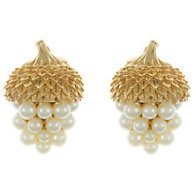 Buy Eclectica Vintage 1950s Trifari Acorn Gold Plated Earrings Online at johnlewis.com