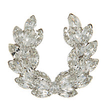 Buy Eclectica Vintage 1950s Rhinestone Brooch, Clear Online at johnlewis.com