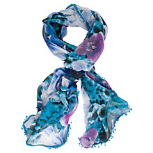 Buy Chesca Floral Printed Scarf, Purple Online at johnlewis.com