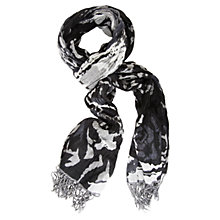 Buy Chesca Abstract Flower Scarf, Black Online at johnlewis.com