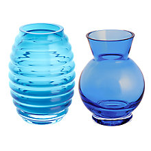 Buy Dartington Mini Gems Vases Gift Pack, Set of 2, Teal/Amethyst Online at johnlewis.com