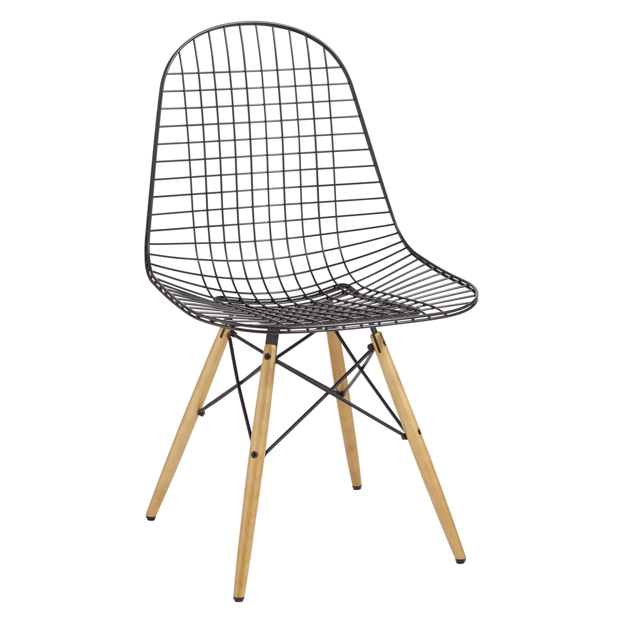 vitra eames dkw wire chair black light maple compare price dining