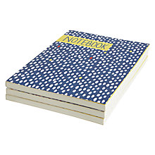 Buy John Lewis A6 Blue Dot Notebooks, Set of 3 Online at johnlewis.com