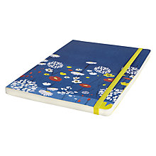 Buy John Lewis A5 Soft Bound Poppy Notebook, Navy / Red Online at johnlewis.com
