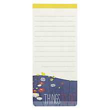 Buy John Lewis Things To Do Magnet Pad, Multi Online at johnlewis.com