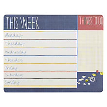 Buy John Lewis Weekly Planner Mouse Mat Online at johnlewis.com