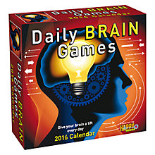 Buy Andrews Mcmeel Daily Brain Game Boxed 2016 Calendar Online at johnlewis.com
