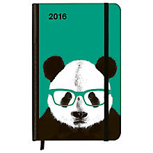 Buy Alice Scott Nerdy Panda Soft Touch Diary Online at johnlewis.com