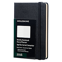 Buy Moleskine A6 Week to View 2016 Diary and Planner Online at johnlewis.com