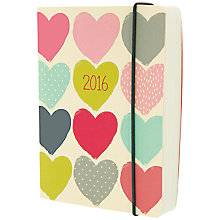 Buy Go Stationery A6 2016 Diary, Hearts Online at johnlewis.com