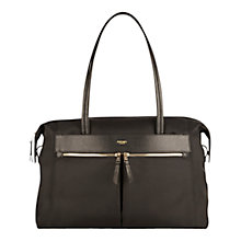 "Buy Knomo Curzon Shoulder Tote for 15"" Laptops, Black Online at johnlewis.com"