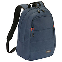 "Buy Targus Groove X Compact Backpack for MacBooks up to 15"", Indigo Online at johnlewis.com"