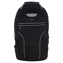 "Buy Targus Drifter Sport Backpack for Laptops up to 14"", Black/Grey Online at johnlewis.com"