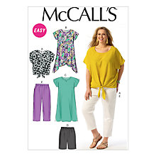 Buy McCall's Women's Top, Tunic, Dress, Shorts and Trousers Sewing Pattern, 6971 Online at johnlewis.com