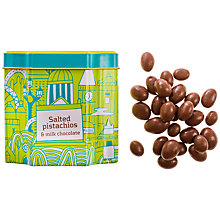 Buy Artisan du Chocolat Milk Chocolate Salted Pistachios, 125g Online at johnlewis.com